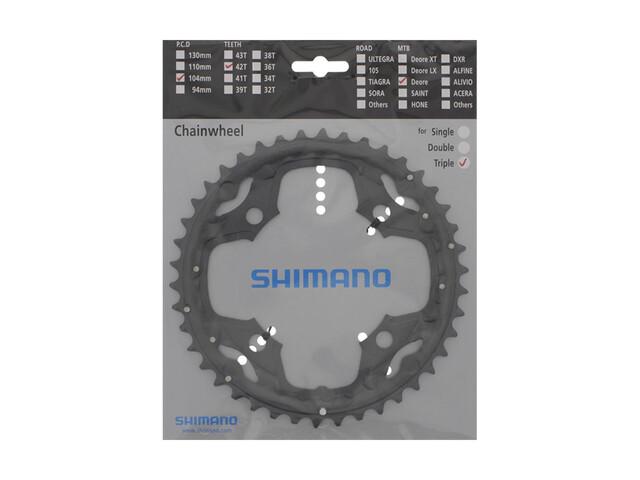 Shimano Deore FC-M590 Drev 10-växlad 42T grå